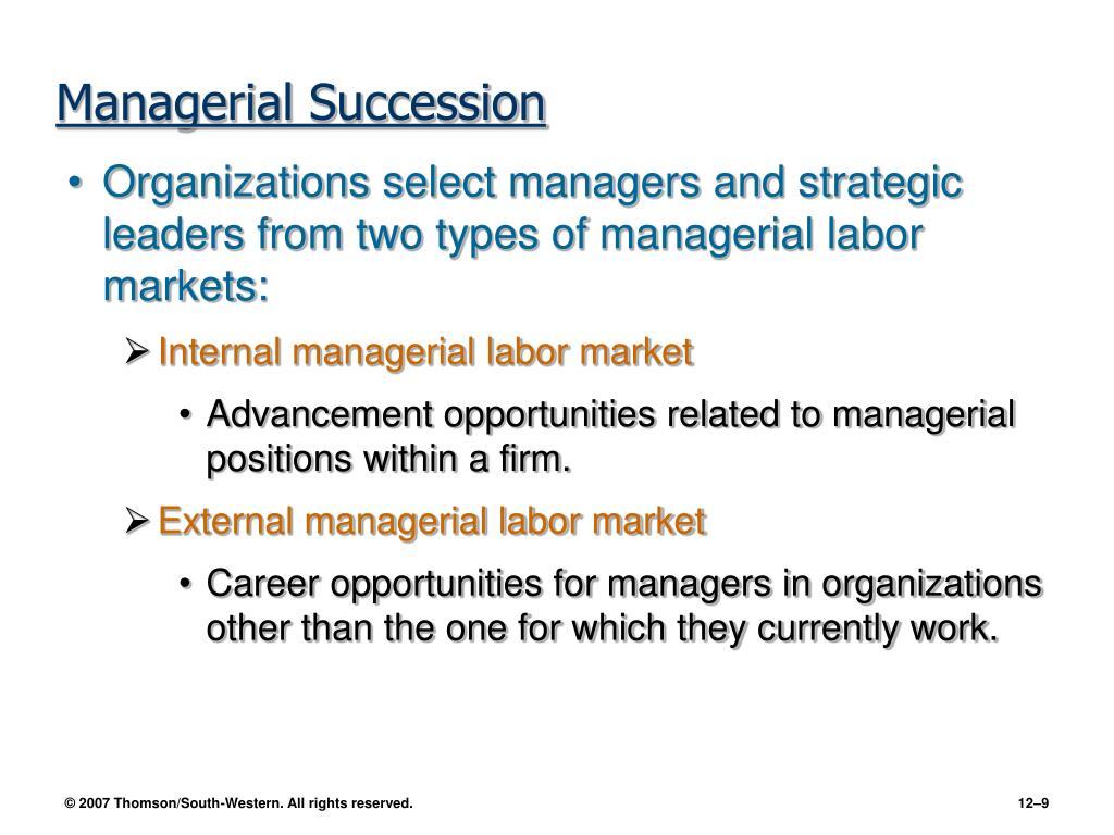 Managerial Succession