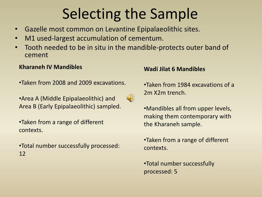 Selecting the Sample