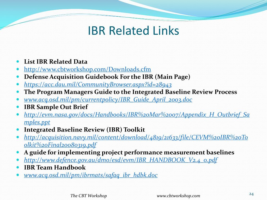 IBR Related Links