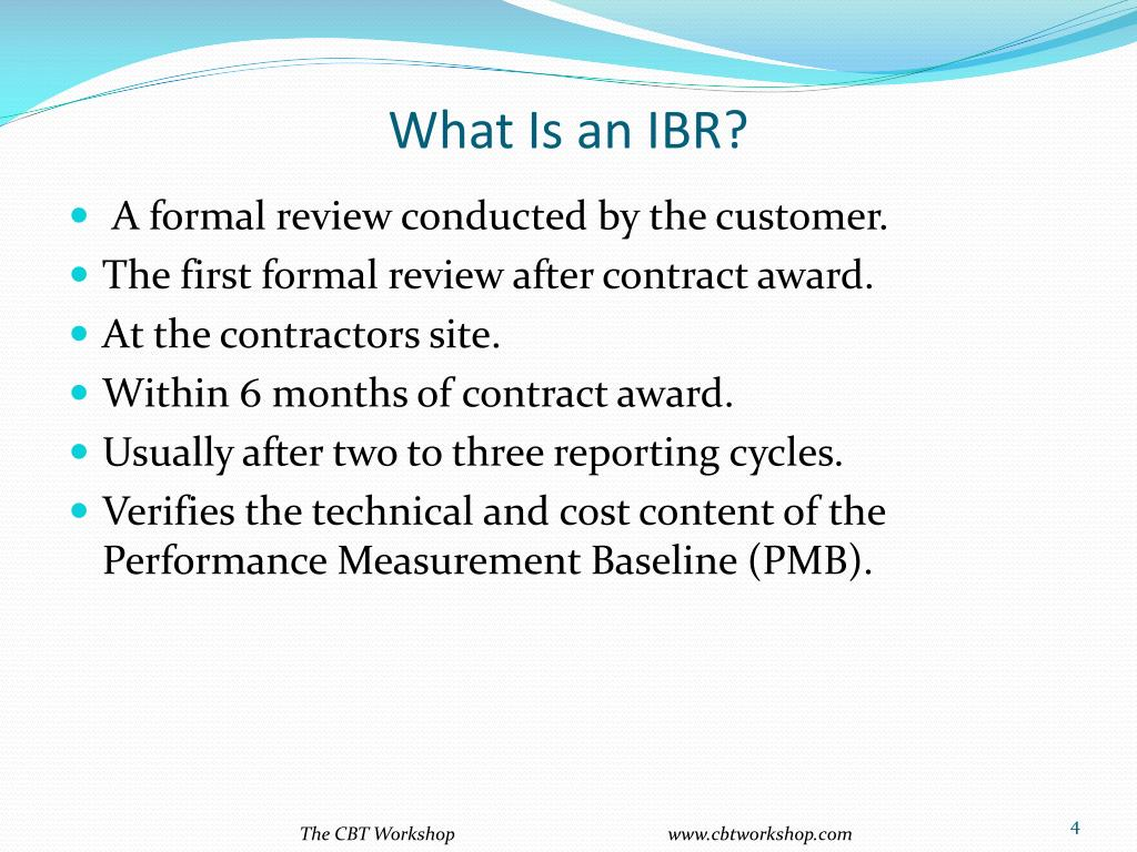 What Is an IBR?