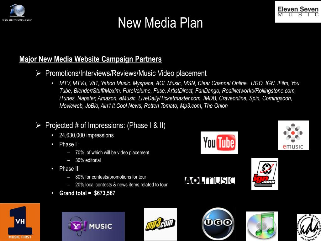 New Media Plan