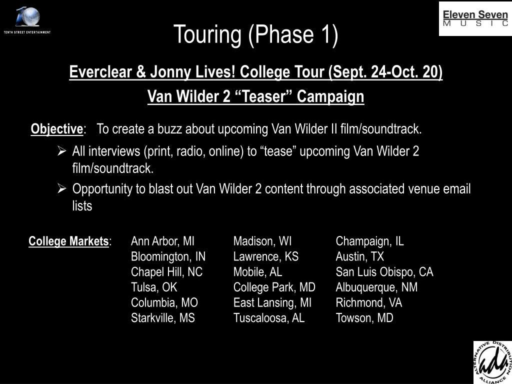 Touring (Phase 1)