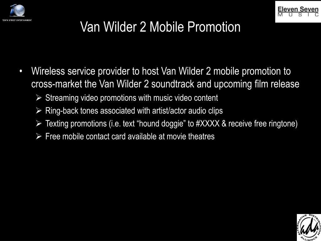 Van Wilder 2 Mobile Promotion