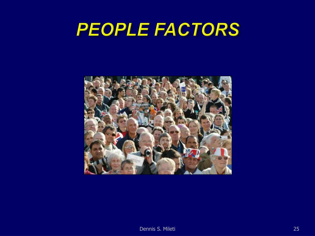 PEOPLE FACTORS