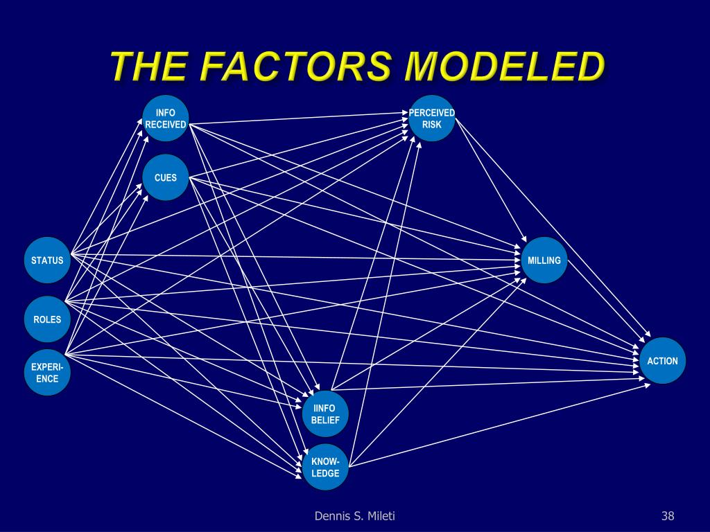THE FACTORS MODELED