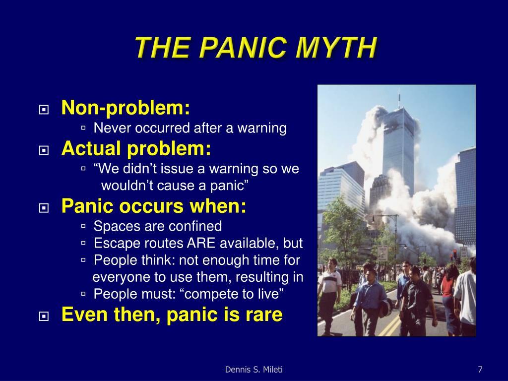 THE PANIC MYTH