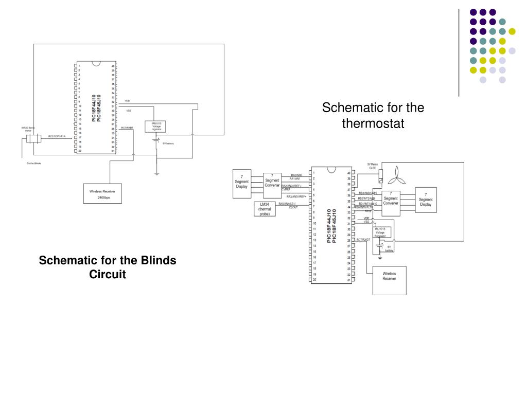 Schematic for the thermostat