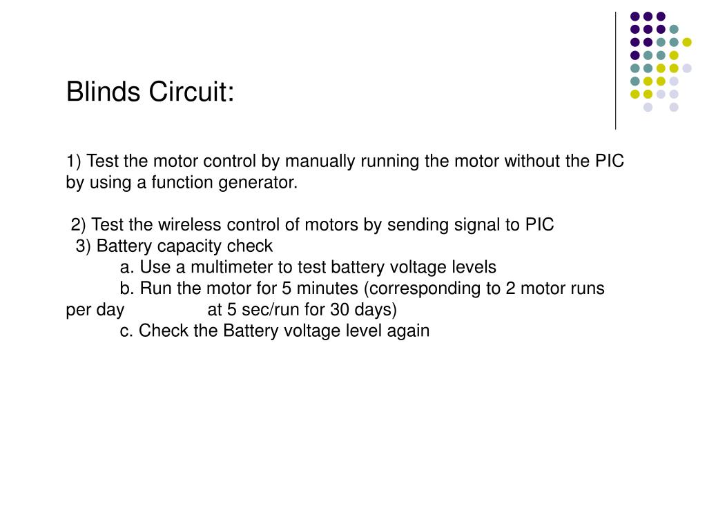 Blinds Circuit: