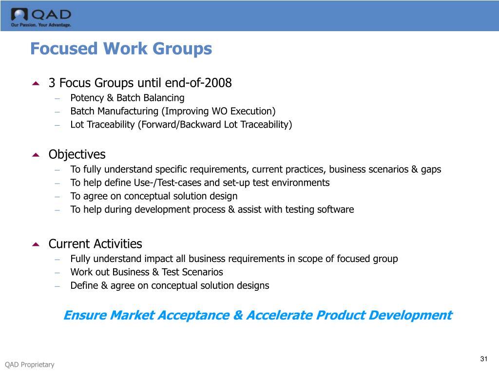 Focused Work Groups