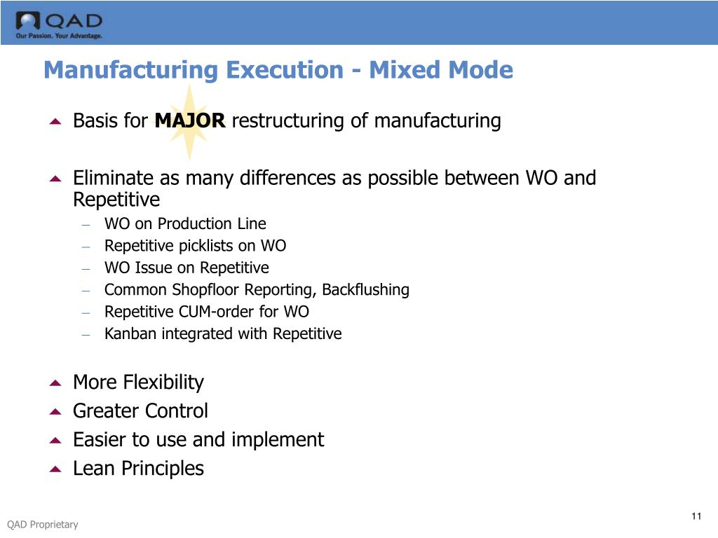 Manufacturing Execution - Mixed Mode