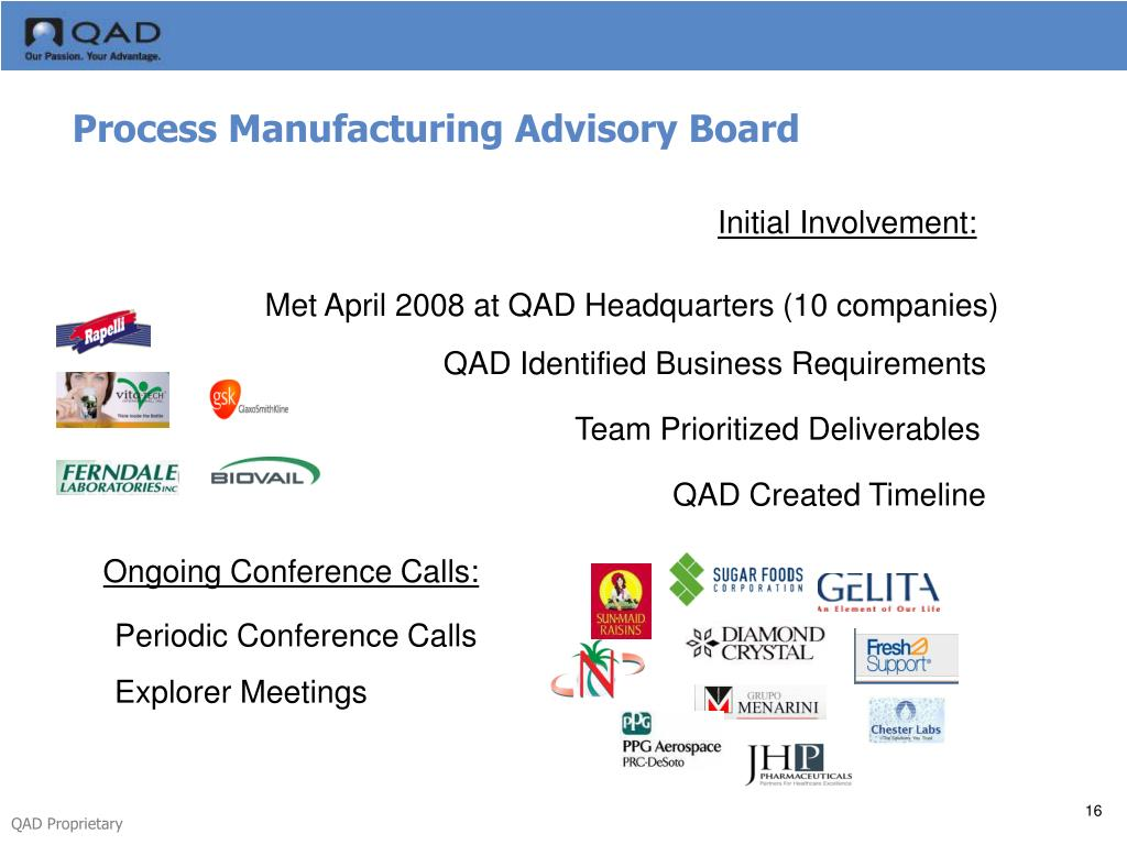 Process Manufacturing Advisory Board
