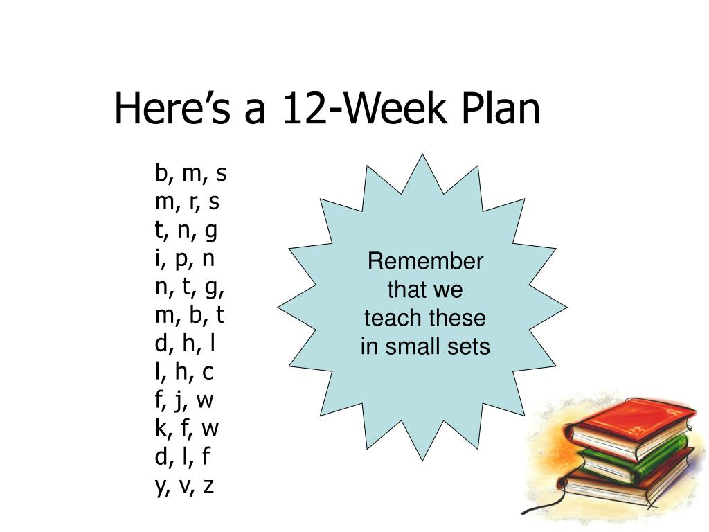 Here's a 12-Week Plan