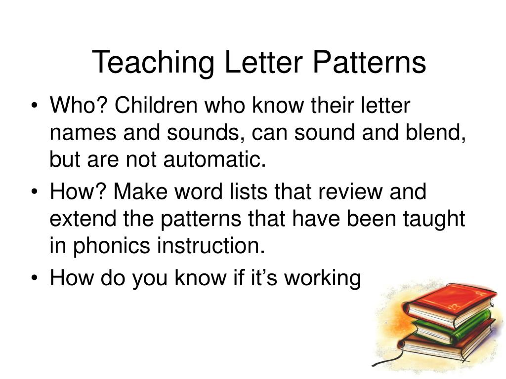 Teaching Letter Patterns