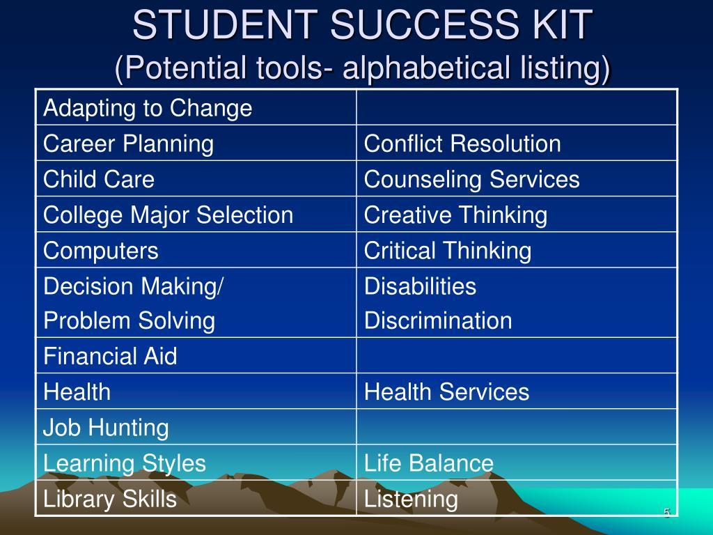 STUDENT SUCCESS KIT