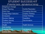 student success kit potential tools alphabetical listing