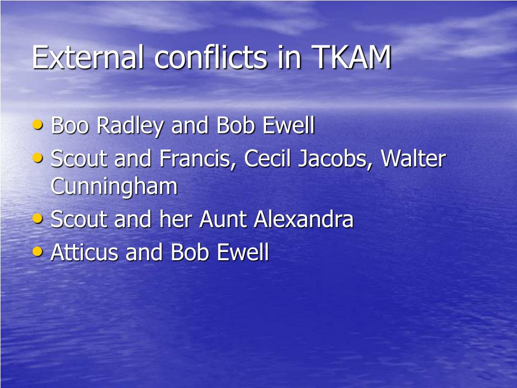 External conflicts in TKAM