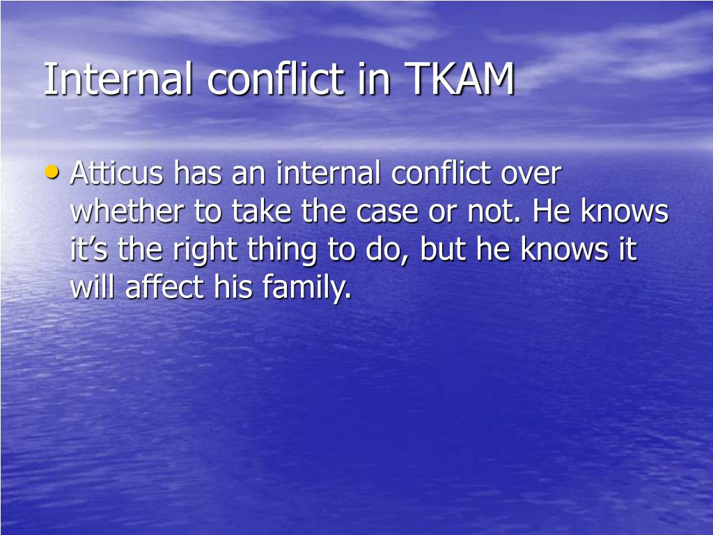 Internal conflict in TKAM