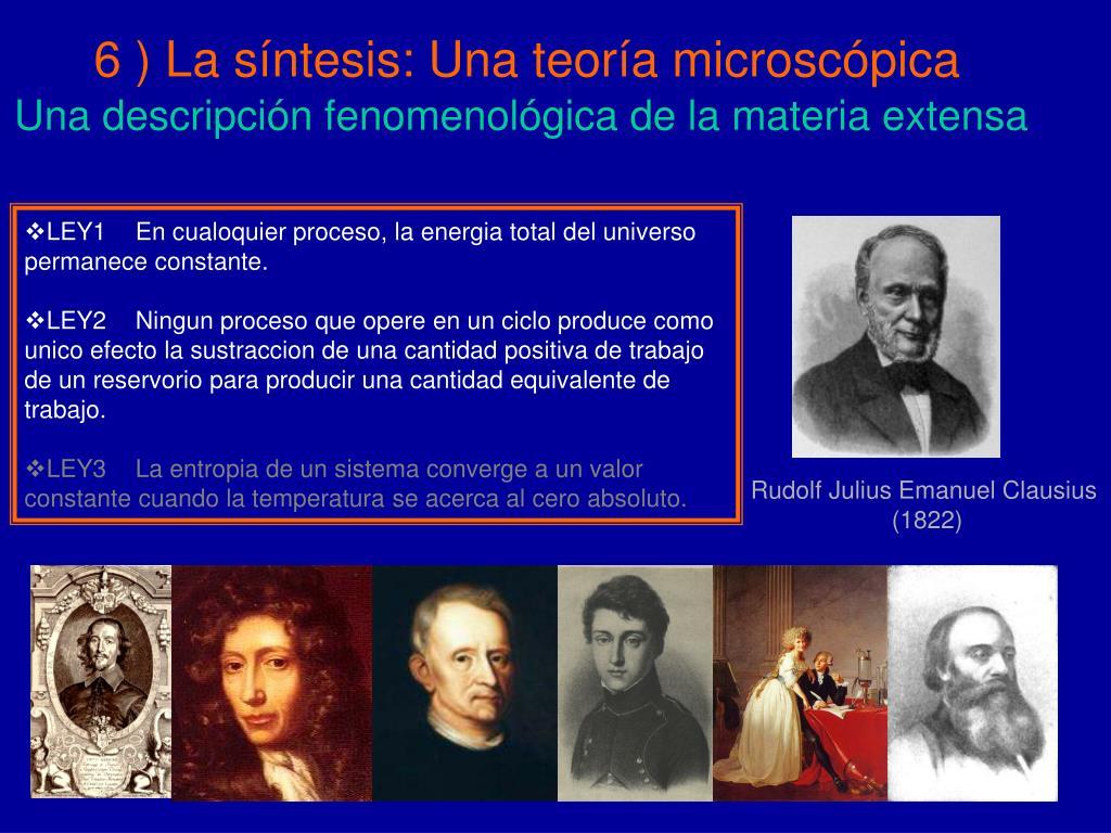 6 ) La síntesis: Una teoría microscópica