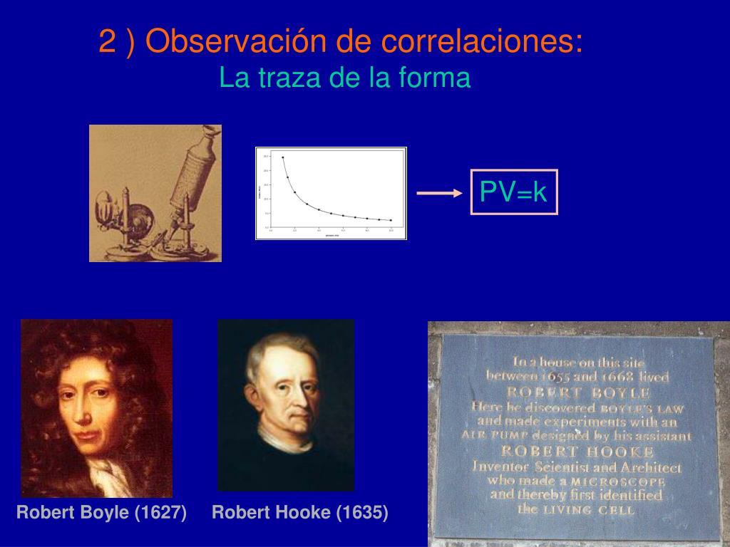 2 ) Observación de correlaciones:
