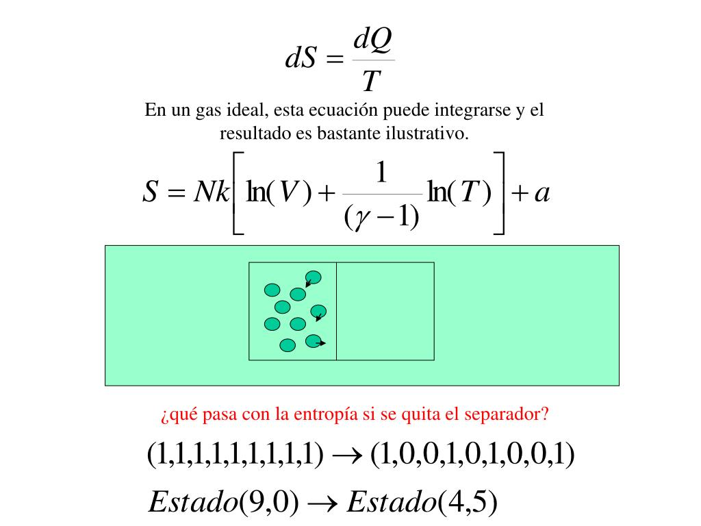 ¿qué pasa con la entropía si se quita el separador?