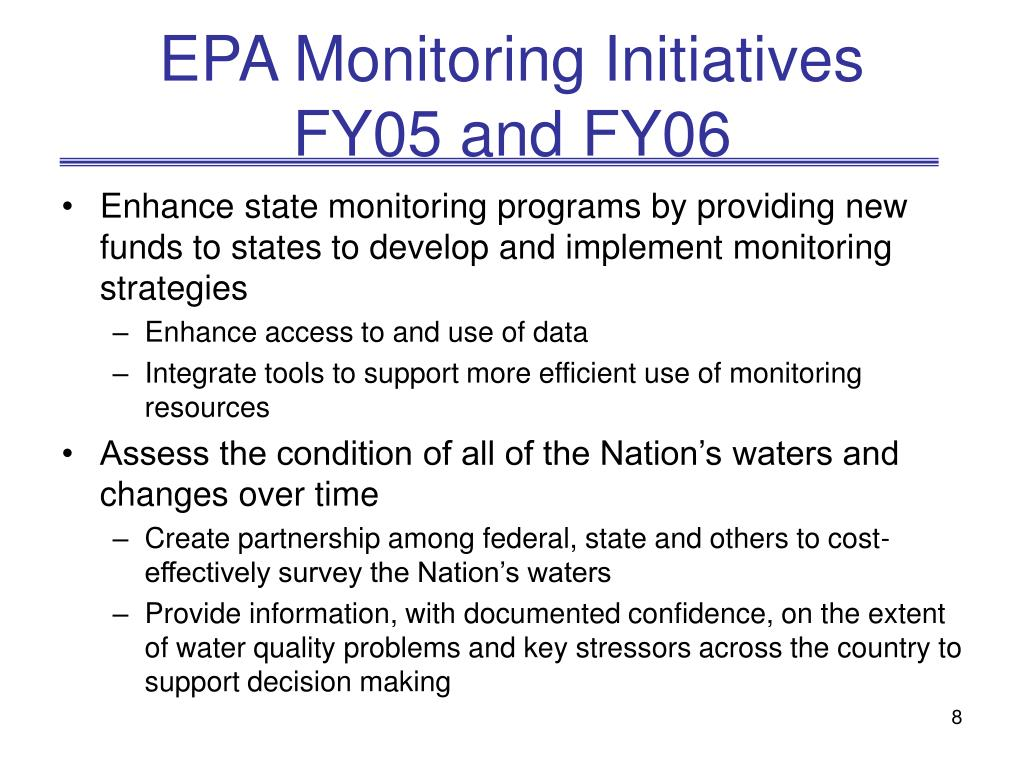 EPA Monitoring Initiatives
