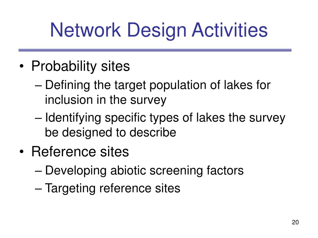 Network Design Activities