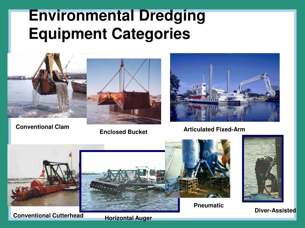 Environmental Dredging Equipment Categories