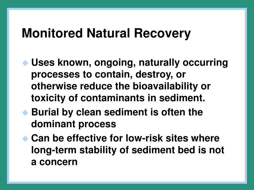 Monitored Natural Recovery