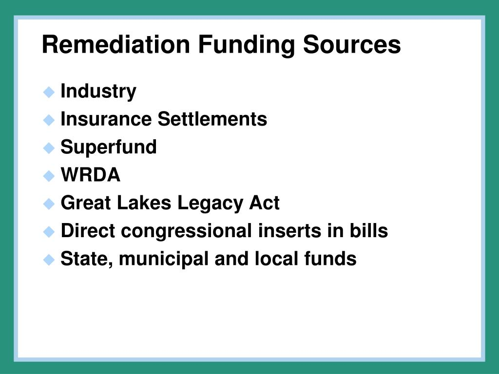 Remediation Funding Sources