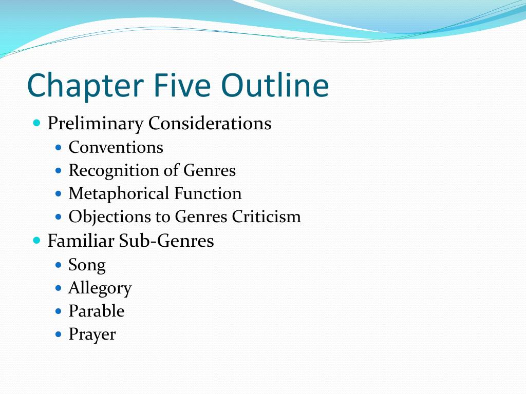 Chapter Five Outline