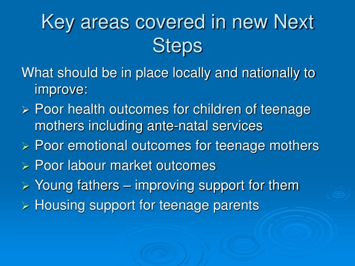 Key areas covered in new Next Steps