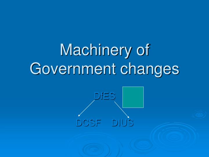 Machinery of Government changes