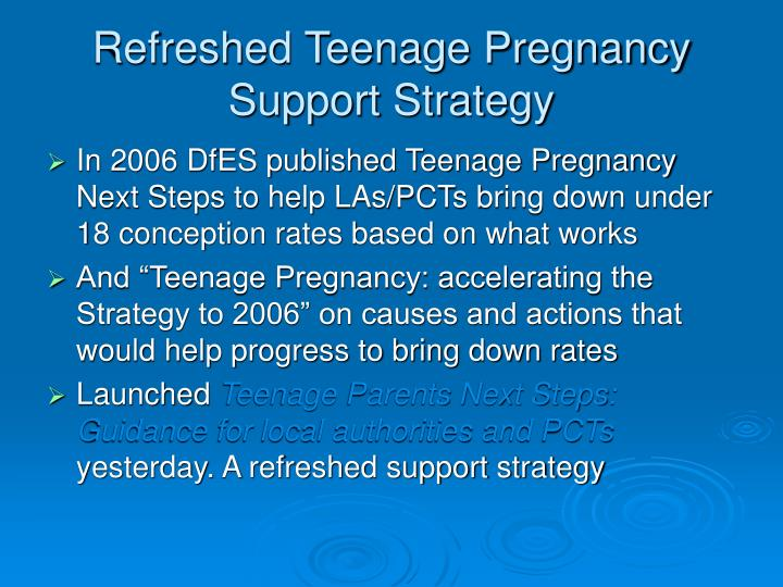 Refreshed Teenage Pregnancy Support Strategy