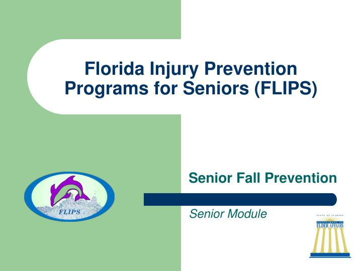 Florida injury prevention programs for seniors flips