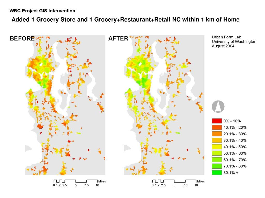 Added 1 Grocery Store and 1 Grocery+Restaurant+Retail NC within 1 km of Home