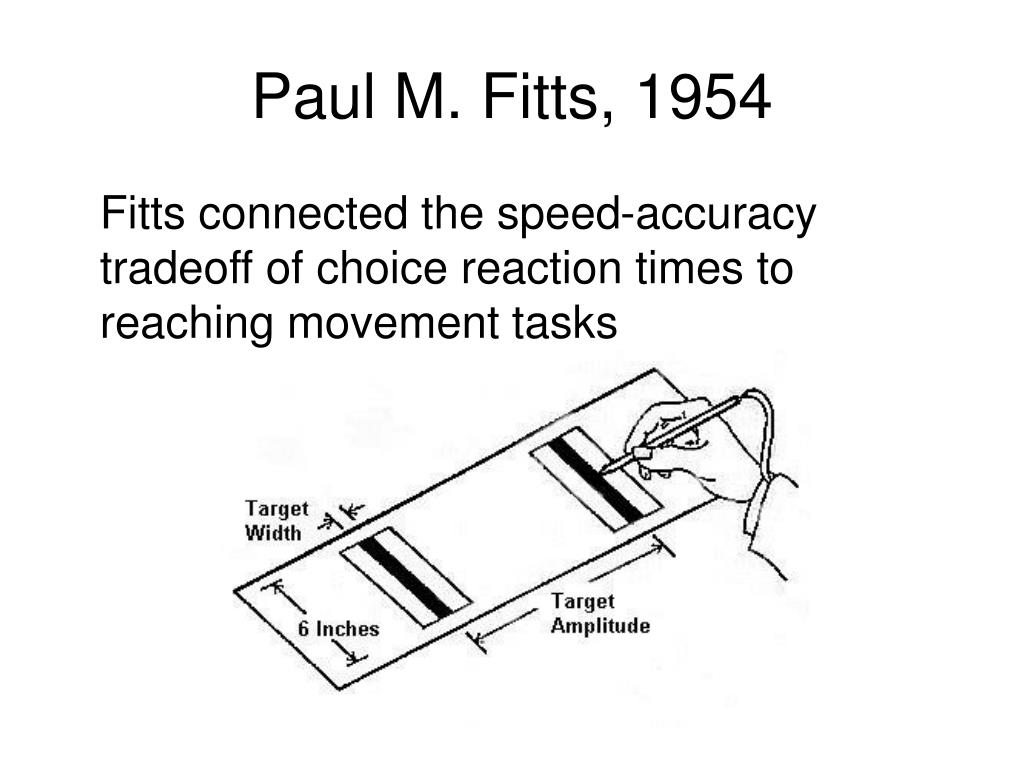 Paul M. Fitts, 1954