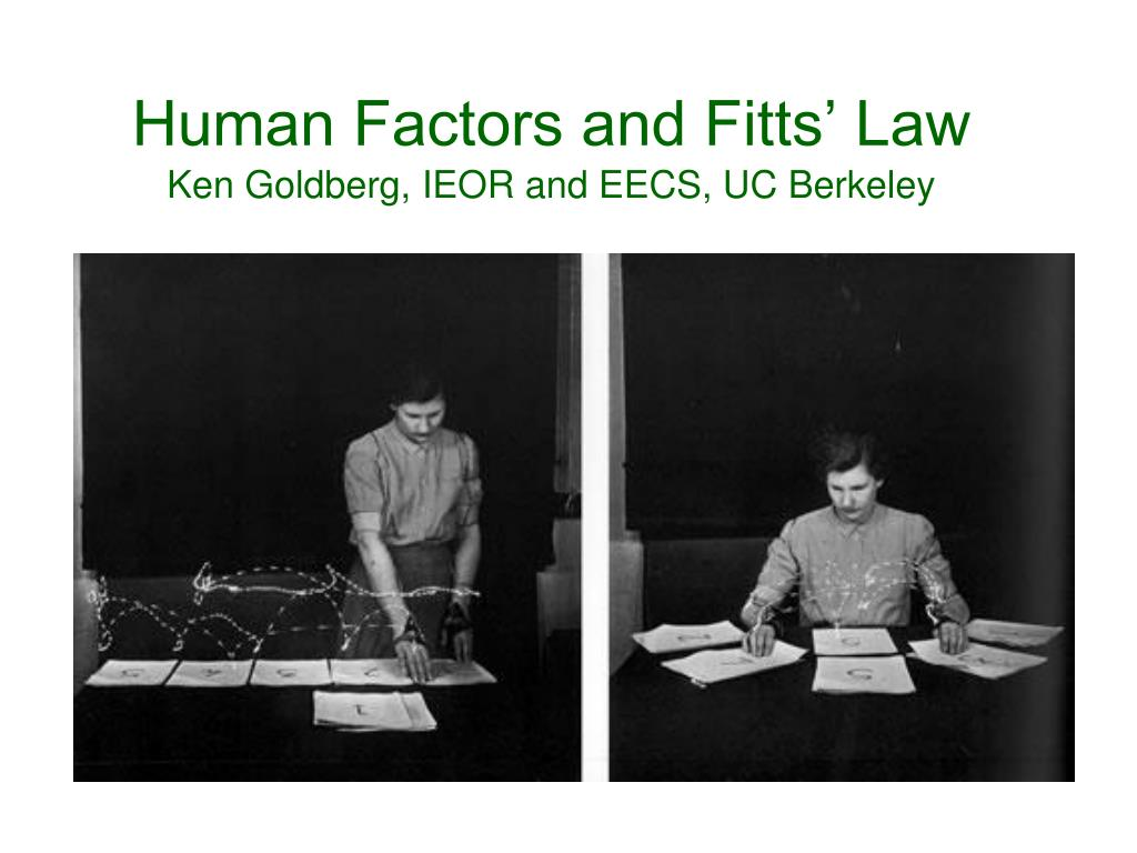 Human Factors and Fitts' Law