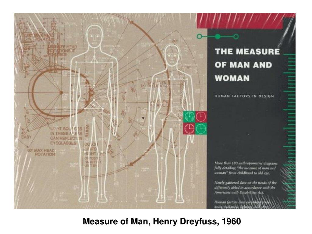 Measure of Man, Henry Dreyfuss, 1960