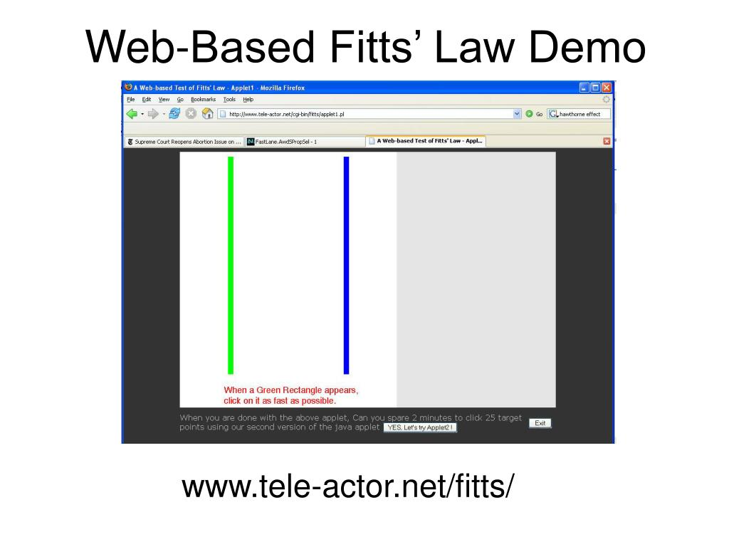Web-Based Fitts' Law Demo