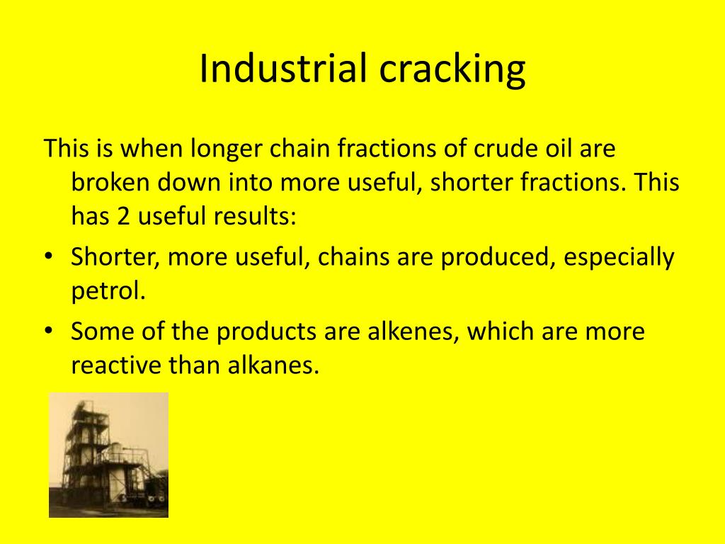 cracking and crude oil Excerpt from:   more power to you - how oil is drilled, transported and refined to gasoline narrator: lowell thomas.