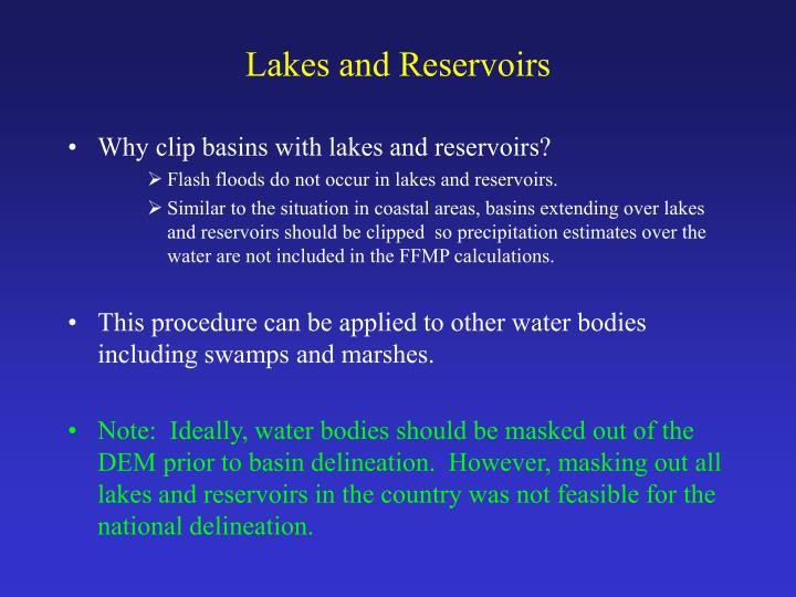 Lakes and reservoirs l.jpg
