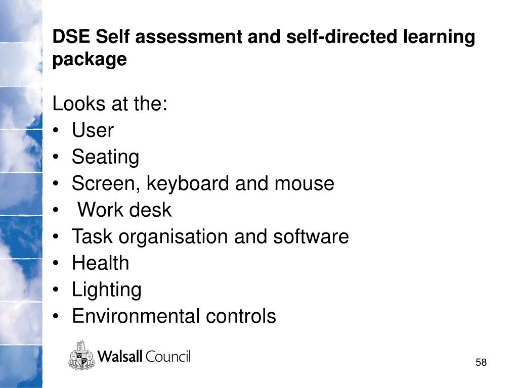 DSE Self assessment and self-directed learning package