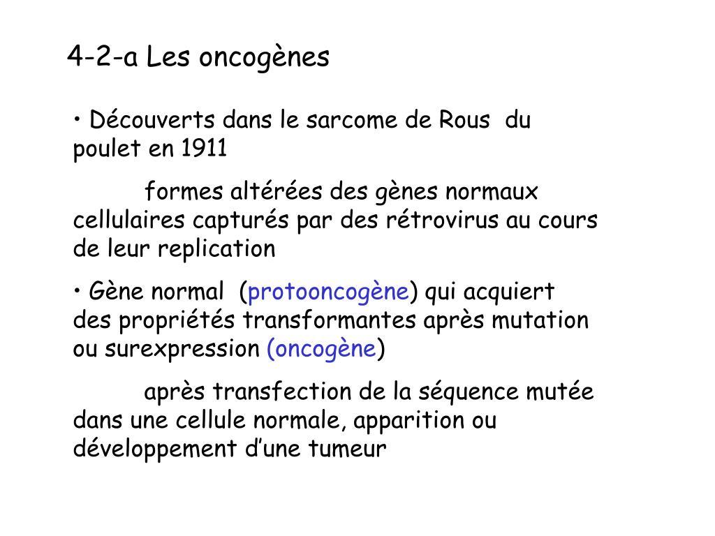 4-2-a Les oncogènes
