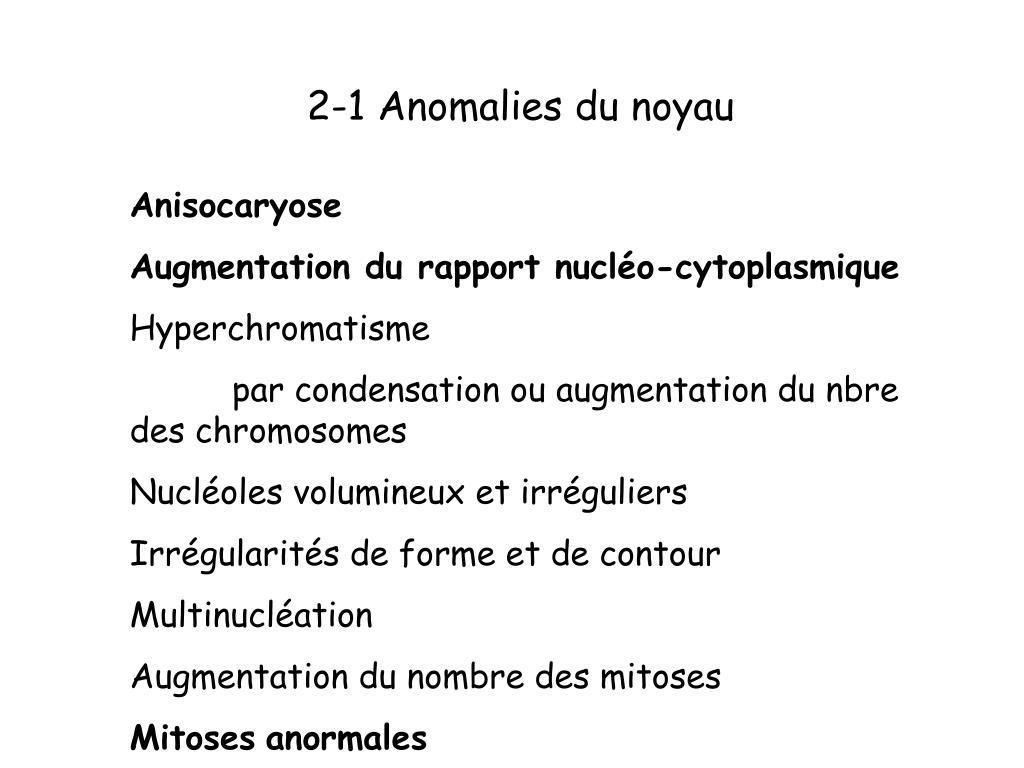 2-1 Anomalies du noyau