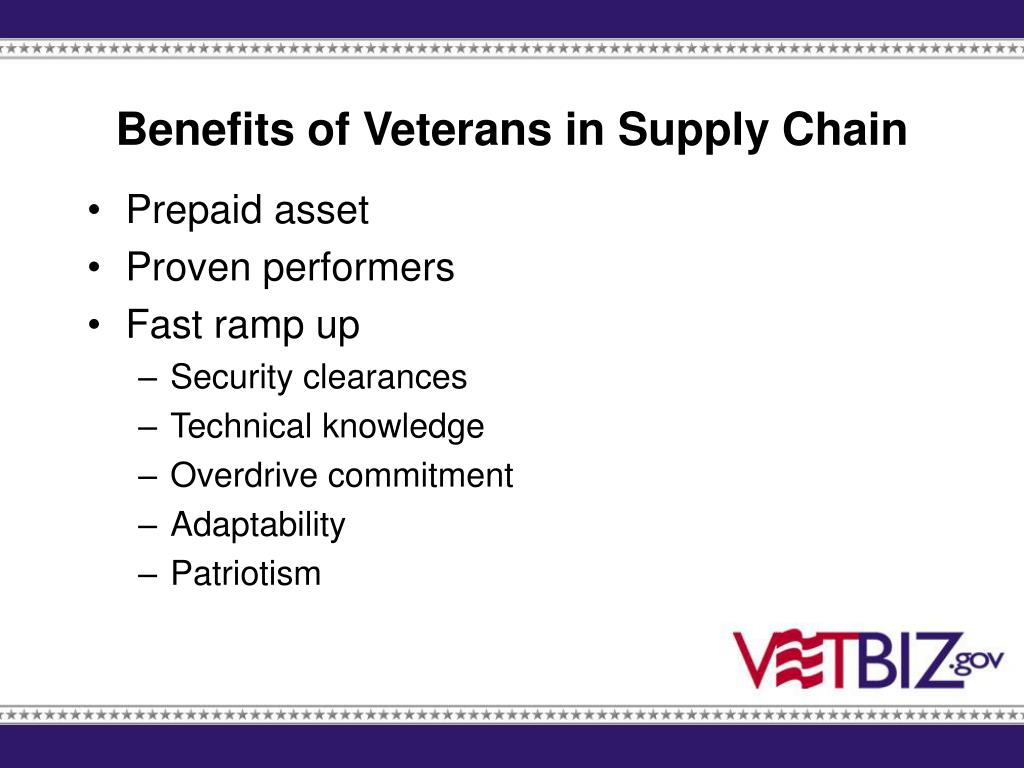 Benefits of Veterans in Supply Chain