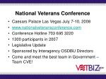 national veterans conference