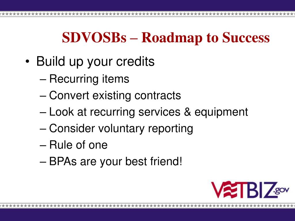 SDVOSBs – Roadmap to Success