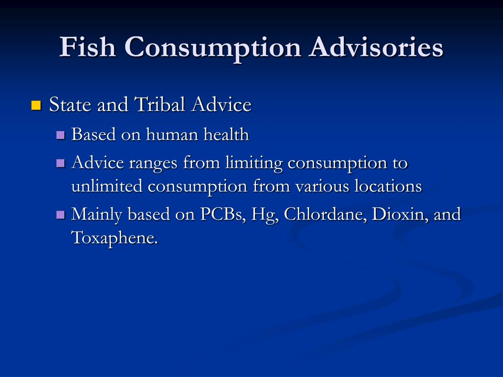 Fish Consumption Advisories