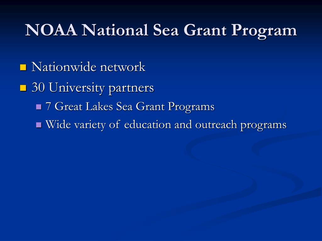 NOAA National Sea Grant Program