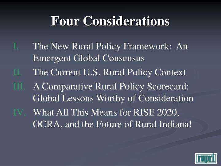 Four considerations l.jpg